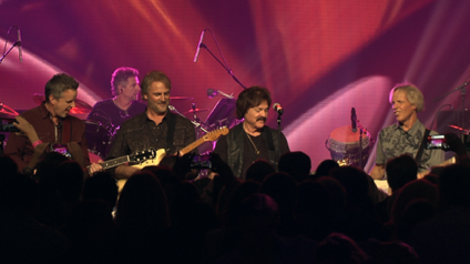 On stage with Tom Johnston of the Doobie Brothers